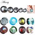 Alisouy-boucles d'oreilles en verre, méduses, animaux de mer, HQ, boucles d'oreilles, guirlandes,