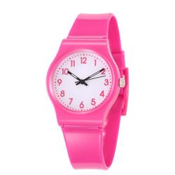 Montre de sport pour enfants, montre-Bracelet à Quartz étanche, Bracelet rose en Silicone, pour