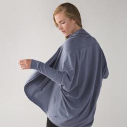 Lululemon Athletica Jackets & Coats | Lululemon To & Flow Wrap Heathered Mod Blue Denim | Color: Blue/Gray | Size: 6