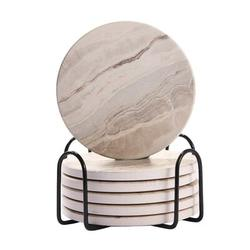 Coasters For Drinks/Absorbent Marble Ceramic Coasters/Housewarming Gift For Home Decor Ceramic, Size 0.25 H x 4.0 D in | Wayfair ABSc53e401
