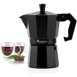 Stovetop Espresso Maker RAINBEAN 6-Cup Espresso Cup Moka Pot Classic Cafe Maker Percolator Italian Coffee Maker Italian Espresso For Gas Or Electric A