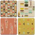 Absorbent Coasters, Retro Modern Marble, Size 0.3 H x 4.25 D in | Wayfair ABS7c7acc4