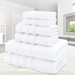 JinLe Towel Set 2 Bath Towels 2 Hand Towels 2 Washcloths Super Soft Absorbent 100% Turkish Cotton Towels For Bathroom & Kitchen Shower Towel Bright