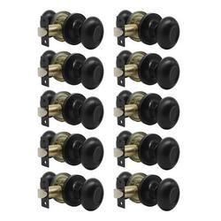 ABS 10-Piece Fitting Aisle Door Handle Set, Oval, Closet Door Handle, Modern Door Handle w/ Hidden Screws, Indoor Door Handle Metal in Black Wayfair