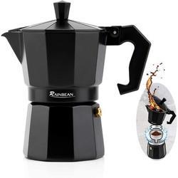 Stovetop Espresso Maker RAINBEAN 3-Cup Espresso Cup Moka Pot Percolator Italian Coffee Maker Classic Cafe Maker Italian Espresso For Gas Or Electric A