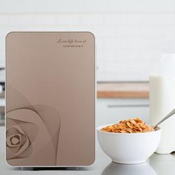 KaiGo 20L Portable Small Mini Fridge,Car Refrigerator Mini Cold & Warm Refrigerator Metal in Pink/Gray, Size 13.3 H x 10.6 W x 12.9 D in   Wayfair