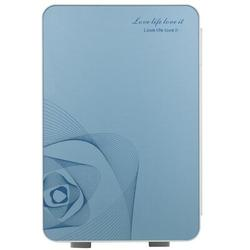 KaiGo 20L Portable Small Mini Fridge,Car Refrigerator Mini Cold & Warm Refrigerator Metal in Gray/Blue, Size 13.3 H x 10.6 W x 12.9 D in   Wayfair