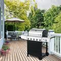 HOMECHO 5-Burner BBQ Gas Grill In Stainless Steel w/ Side Burner, Shelf & Wheels, Waterproof Cover in Black/Gray | Wayfair PG-40522S0LB