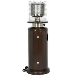 ihometea Commercial Bronze Outdoor Patio Heater w/ Sandbox & Wheels in Brown, Size 53.0 H x 17.0 W x 17.0 D in | Wayfair I01WSZ210508341-X819