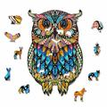 Polar Wooden Jigsaw Puzzles For Adults & - Unique Animal Shaped Jigsaw Pieces Unique Puzzles Best Gift For Children & Teens - Hell Difficulty Owl 2