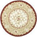Safavieh Chelsea Oriental Hand Hooked Wool Ivory Area Rug Wool in Brown/White, Size 96.0 H x 96.0 W x 0.25 D in | Wayfair HK73A-8R