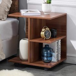 Latitude Run® GRELO HOME Modern Nightstand End Side Table w/ Rolling Wheels, Bedside Table w/ Open Shelf, Night Printer Stand Storage Shelf | Wayfair