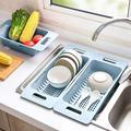 WORTHSPARK [3 Pack] Sink Colander Multifunctional Extendable Over The Sink, Dish Drying Rack Vegetable/Fruit Colanders Strainers Basket For Kitchen