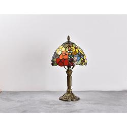 Fleur De Lis Living Pressley Accent Bronze Table Lamp Resin/Glass in Blue/Brown/Green, Size 14.6 H x 7.9 W x 7.9 D in | Wayfair