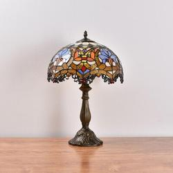 Fleur De Lis Living Pressley Table Lamp Pressley Lamps Victorian Decor Lamp Stained Glass Lampshade Bedside Light Farmhouse Mission Style Lamp Resin/Glass