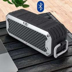 XIAOSHU Rugged Waterproof Water, Shock, FM Radio & Bluetooth Speaker in Gray, Size 4.0 H x 9.6 W x 4.0 D in | Wayfair I01LSZ200706321xli130816