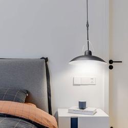 WPYCO Solar Light, Remote Control Solar Energy-Saving Chandelier/Double Head Waterproof Suspension Lighting/Indoor & Outdoor (Warm Light) in White