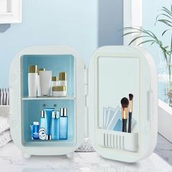 WAYLOWAY 6.34Qt Mini Fridge Cosmetic Makeup Fridge Refrigerator Cooler Warme w/ LED Light in White, Size 11.8 H x 10.4 W x 7.8 D in | Wayfair