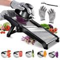 yuzhuoyongchi Professional Mandoline Slicer Stainless Steel Adjustable Blade,Food Cutter For Vegetable Fruit Cheese in Black | Wayfair