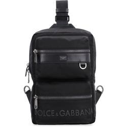 Single Strap Backpack - Black - Dolce & Gabbana Backpacks