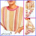 Free People Sweaters | Free People Boxy Ribbed Knit Sweater | Color: Brown/Pink | Size: Various
