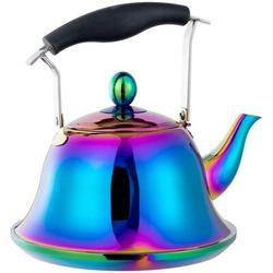 ABS Whistling Tea Kettle w/ Removable Infusers For Loose Leaf Tea, Stainless Steel Teakettle Tea Pot Induction Stovetop Gas | Wayfair ABS05f6173