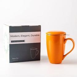 new chapter Ceramic Tea Coffee Mug in Orange, Size 5.8 H in | Wayfair A0B1B091STS6NRA0B0