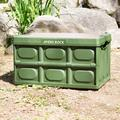 Hitrons Solutions Ayers Rock General-Pocket Typ Camping Folding Box Table (Black) in Green, Size 11.81 W x 20.86 D in | Wayfair SKT-PKT-OG