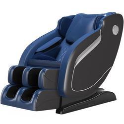 Inbox Zero SL Track Massage Chair Recliner, Full Body Massage Chair w/ Thai Stretch, Zero Gravitytooth Speaker, Airbags, & Thai Foot Massage in Blue