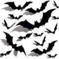 The Holiday Aisle® Halloween 3D Bats Decoration Plastic Bat Wall Stickers For Home Window Decor Party Supplies (60PCS) in Black | Wayfair