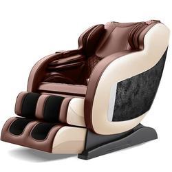 Inbox Zero 3D Massage Chair Recliner w/ Bluetooth, Space Saver, Body Scan, SL Track, & Assembled (Black) in Brown, Size 47.0 H x 57.0 W x 26.0 D in