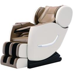 Inbox Zero Massage Chair Recliner, Full Body Massage Chair w/ Thai Stretch, Zero Gravity, Bluetooth Speaker, Airbags, & Thai Foot Massage in Brown