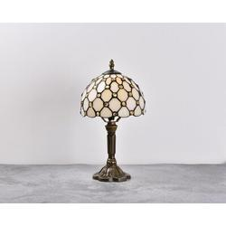 Canora Grey Gianetta Antique Bronze Standard Table Lamp Resin/Glass in Brown, Size 14.6 H x 8.0 W x 8.0 D in | Wayfair