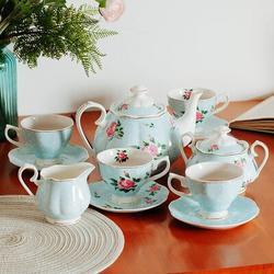 Xiangong Btat- Floral Tea Set, Tea Cups (8Oz), Tea Pot (38Oz), Creamer & Sugar Set, Gift Box, China Tea Set, Tea Sets For Women | Wayfair