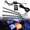 Bandes lumineuses Led 36/48/72 pour voiture, lumières d'ambiance RGB LED USB 12V, lampe décorative