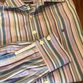 Burberry Shirts | Burberry Mens Collared Long Sleeve Button Shirt | Color: Blue/Purple | Size: 15.5