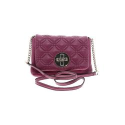 Kate Spade New York Leather Crossbody Bag: Purple Solid Bags