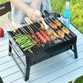 PARTYKINDOM 1 Pc BBQ Barbecue Grills Outdoor Garden Charcoal Barbeque Patio Party Cooking Foldable Picnic Stoves Heating Stove | Wayfair