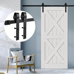 KATIER Sliding Barn Double Door Hardware Kit in Black | Wayfair KATIERccab1b1