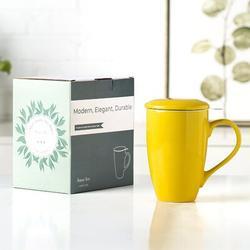 new chapter Ceramic Tea Coffee Mug in Yellow, Size 5.8 H in   Wayfair A0B1B091SWVW5PA0B0