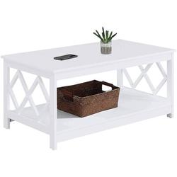 Red Barrel Studio® Convenience Concepts Diamond Coffee Table in White | Wayfair 3A8C4AFBBDD9489A89698D0544858154