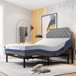 Alwyn Home Weisberg Platform Bed Metal in Gray/Green, Size 15.0 H in   Wayfair 9C4B6ACD23124F1F91BF17F82CDB32D7