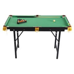 YLLCOMPANYC INC 47 Inch Folding Billiards Table Pool Game Table For Children Aged 4-14 Years, Size 29.5 H x 47.2 W x 23.6 D in   Wayfair
