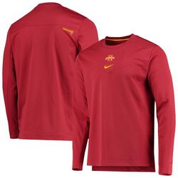 Men's Nike Cardinal Iowa State Cyclones Football Performance Pullover Sweatshirt