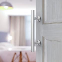 DELCY Stainless Steel Sliding Door Handle Round Barn     Stainless Steel Round Heavy Solid Steel Door Handle Is Suitable For The Garage Shed Barn Door