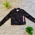 Nine West Jackets & Coats | Nine West Leopard Print Denim Jacket | Color: Black/Brown | Size: S