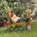 Alcott Hill® Rocky Garden Gnome Statue Resin/Plastic in Brown/Green, Size 10.0 H x 12.0 W x 5.0 D in | Wayfair ALCT3286 26118847