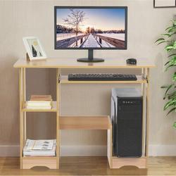 Ebern Designs Home Desktop Computer Desk Modern Minimalist Office Desk Creative Desk Writing Desk in Brown, Size 28.3 H x 35.0 W x 18.8 D in Wayfair