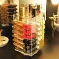 Boîte de rangement de maquillage acrylique, boîte de rangement rotative à 360 degrés, boîte à bijoux