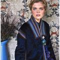 Anthropologie Jackets & Coats | Anthropologie Sparrow Jupukka Faux Fur Jacket Xs | Color: Blue/Red | Size: Xs